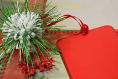 Gift with Red Tag Stock Images