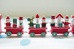 Gift on red train Stock Image