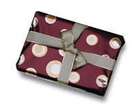 Gift in red wrapping Stock Photography