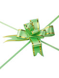 Gift ribbon. Green gross ribbon and bow Stock Images