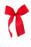 Gift ribbon 2. A red gift ribbon with a white background Stock Photography