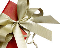 A gift with ribbon. stock photos
