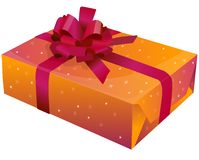 A gift with ribbon Stock Image