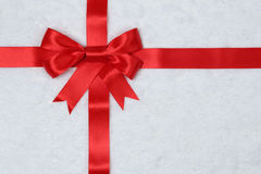 Gift ribbon background with snow for gifts on Christmas stock image