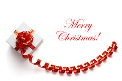 Gift with ribbon and bow. Royalty Free Stock Image