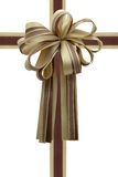 Gift ribbon and bow. Gift ribbon and bow isolated on white Stock Photo