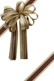 Gift ribbon and bow. Gift ribbon and bow isolated on white Stock Images