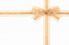 Gift ribbon bow Stock Photos