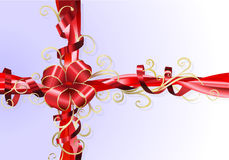 Gift ribbon and bow background Stock Photo