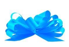Gift ribbon bow isolated Stock Photography