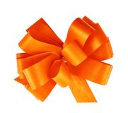 Gift ribbon bow isolated Royalty Free Stock Image