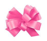 Gift ribbon bow isolated Stock Image