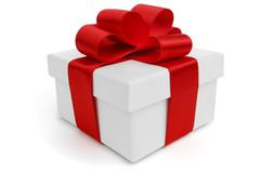 Gift with ribbon and bow Royalty Free Stock Images