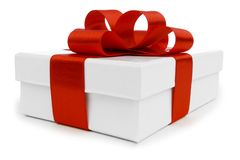 Gift with ribbon and bow Royalty Free Stock Photos
