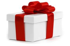 Gift with ribbon and bow Stock Photo