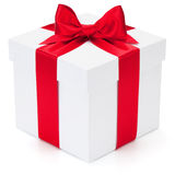 Gift with ribbon and bow. Royalty Free Stock Images