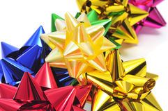Gift ribbon bows Stock Photos