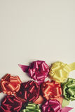 Gift ribbon bows of different colors Royalty Free Stock Image