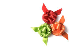 Gift ribbon bows of different colors Royalty Free Stock Photos