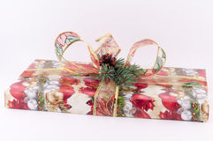 Gift with Ribbon. For christmas on white background stock photography