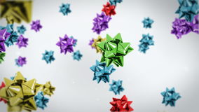 Gift ribbon flying,holiday background, stock footage Royalty Free Stock Photo