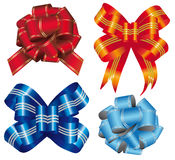 Gift ribbon into four types Stock Photography