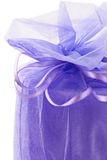 Gift with ribbon`s bow Stock Photo