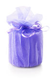 Gift with ribbon`s bow Royalty Free Stock Photo