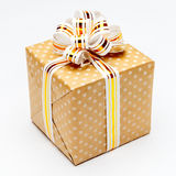 Gift with ribbon on white background Stock Images