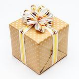 Gift with ribbon on white background Royalty Free Stock Photos