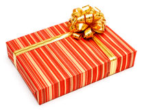Gift with ribbon on white background Royalty Free Stock Image