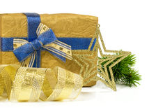 Gift with ribbons and decorations Royalty Free Stock Photography