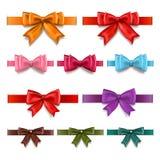 Gift ribbons set Stock Image