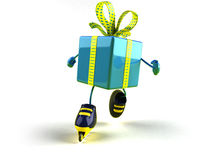 Gift roller blading Stock Photography