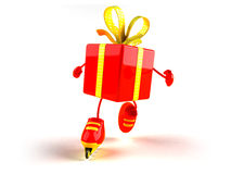 Gift rollerblading Royalty Free Stock Photography