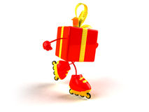 Gift rollerblading Stock Photo