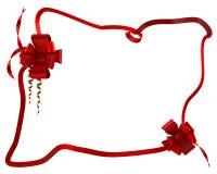 Gift rood lint in doos Stock Afbeelding