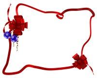 Gift rood lint in doos Royalty-vrije Stock Afbeeldingen