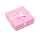 Gift Rose Box With Bow Royalty Free Stock Photos