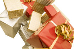 Gift's pile Royalty Free Stock Images