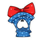 Gift sadness gloom cartoon Stock Images