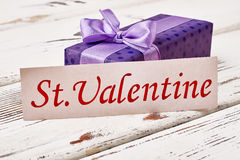 Gift for Saint Valentine`s Day. Stock Images