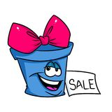 Gift sales promotion sale cartoon Stock Photos