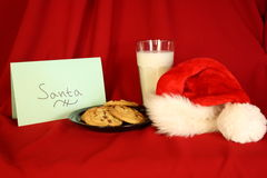 Gift for Santa. Milk and cookies gift for Santa Stock Image