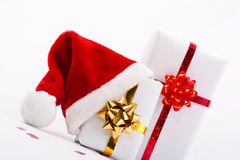 Gift in Santa's cap Stock Photos