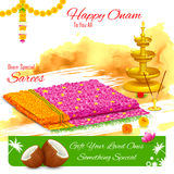 Gift of saree in Happy Onam Royalty Free Stock Photo