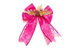 Gift satin ribbon bow Stock Image