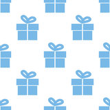 Gift seamless pattern Royalty Free Stock Images