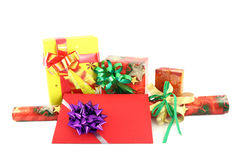 Gift set. On white background Royalty Free Stock Image
