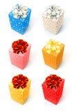 Gift set. Gift box with bow isolated on white background set Royalty Free Stock Image